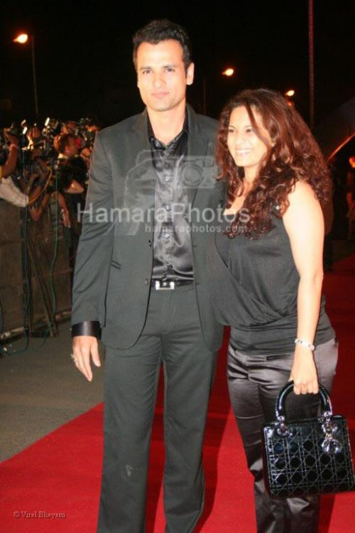 Rohit Roy,Manasi at the Race premiere in IMAX Wadala on March 20th 2008 shown to user